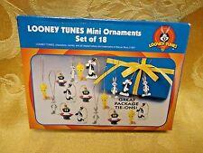 18 Looney Tunes mini holiday Christmas Tree ornaments Bugs Bunny Tweety Marvin