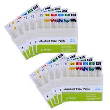 100 Packs Dental Endodontics Absorbent Paper Points 0.02 15-40# 200 Pcs / Pack