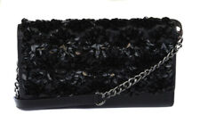 Michael Kors Women Leather Black Floral Burst Sequin Crossbody Purse Bag Handbag