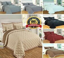 Reversible 5 Pieces Bedspread Quilted Comforter Single Double King Superking