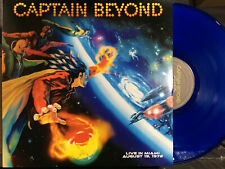 CAPTAIN BEYOND - Live in Miami Aug.19,1972 Blue Vinyl LP Dancing Madly Backwards