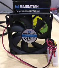 Ventola tachimetrica MANHATTAN 80x80x25 per case o alimentatore PC