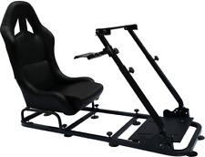 Sedia postazione gioco sedile game regolabile guida PC Ps4 Ps3 Xbox pelle nero +