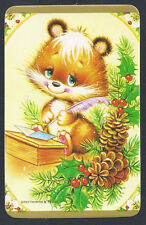 #920.676 Blank Back Swap Cards -NEAR MINT- Christmas Critter writing a letter