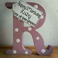 1st Birthday gift- Personalised handmade wooden letter for boy or girl birthday