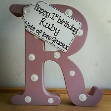 Personalised 1st First Birthday Gift Handmade Wooden Letter Present