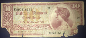 military payment certificate Series 521 $10