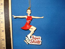 Figure Skate Ornament Woman Red C8388 126