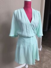 Marciano Teal Green Dress Size XS Wrap Flare Gorgeous