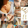 Boho Beach Sea Natural Shell Cowrie Pendant Chain Necklace Bracelet Jewelry Gift