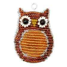 Beadworx-hibou porte-clés-bead work grass roots perles de verre