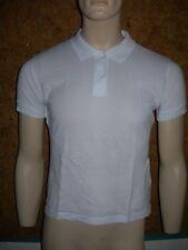 POLO à manches courtes, tee shirt, HOMME, marque SG , 100% Coton, BLANC en S