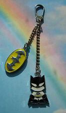 BATMAN LOGO KEYRING KEYCHAIN HANDBAG CHARM IN GIFT BAG DC COMICS SUPERHERO
