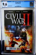 Civil War II #0 2106 Copiel Cover CGC NM+ 9.6 White Pages 2102194003