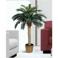 Tropical Palm Tree Decoration Plant Sago Silk Valance Decor Artificial Plastic 4