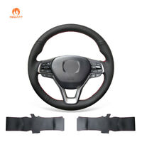 Black Artificial Leather Steering Wheel Cover for Honda Accord 10 Insight 2019