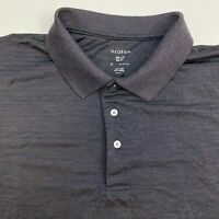 George Polo Shirt Men's Size 2XL XXL Short Sleeve Gray Black Casual Polyester