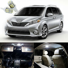 19 x Xenon White LED Interior Lights Package Kit For Toyota Sienna 2011 - 2018