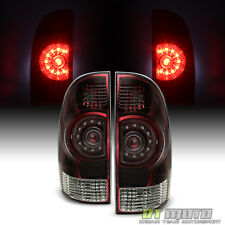 Red Smoked 2005-2015 Toyota Tacoma TRD Tail Lights Brake Lamps 05-15 Left+Right