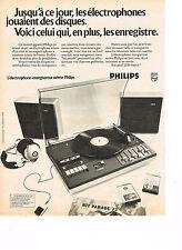 PUBLICITE ADVERTISING 034  1973  PHILIPS   éléctrophone enregistreur