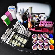 9W UV White Lamp Electric Nail Machine 12 Color Pure UV GEL Nail Art Set