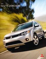 2009 Mitsubishi Outlander 30-page Sales Brochure Catalog