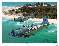 SBD Dauntless WW II Aviation Art Print