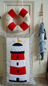 PRIMITIVE FOLK ART SEWING PATTERN 'BESIDE THE SEASIDE' CUSHION, WREATH & FISH