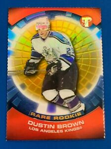 03-04 Topps Pristine # 118 DUSTIN BROWN Rare RC Gold Refractor 23 /33 * Jersey #