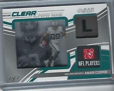 Amari Cooper CLEAR VISION Clear Change 2016 NFL Game Material Raiders (1 of 1)