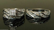 & Her Wedding Ring Bands Trio Bridal Set 2.5 Ct 14 k White Gold Finish His