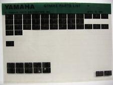 Yamaha GTMX1978 GTMXE Parts List Manual Microfiche m46