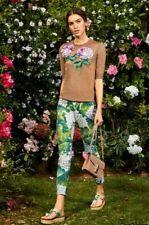 AUTH FW 2017 Dolce&Gabbana hydrangea printed jacquard trousers 40