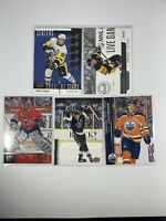 NHL Upper Deck Insert (5) Card Lot Crosby, McDavid, Gretzky, Roy