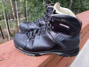 Raichle REI Men 12 Vibram Gray Leather GORETEX Hiking Boot Romania Made