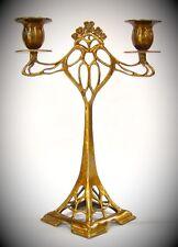 Kerzen Leuchter Kandelaber Lampe Jugendstil Bronze Geschenk Vintage Ästhetik