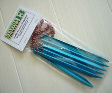 Lightweight Aluminium V-shape Tent Pegs (160mm x 9mm x 9mm - 10g each) 6 Pack