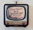 RETRO TELEVISION -  IT's A WONDERFUL LIFE * Glitter CHRISTMAS ORNAMENT * Vtg Img