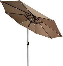Paraguas Solar Luces 60 LED Tira de Jardín Sombrilla Hada doble función al aire libre