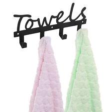 Towels Bathroom Towel Hook Wall Mount Washcloth 4 Hanger Door Home Coat Kitchen