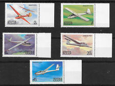 RUSSIA SG 5301-05 GLIDERS; 2nd SERIES 1983 M.N.H.