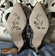 Rose Gold Mirror Wedding Shoe Vinyl Sticker /' I DO /' Glitter Bride Plain