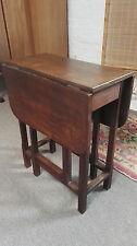 Oak Antique Style Folding Side & End Tables