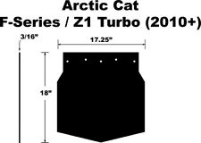 PDP Snow Flap for Arctic Cat CrossFire, M-Series 09-12