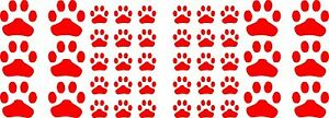 42 Paw Print Vinyl Graphic Stickers Decals Decoration