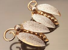 Vintage 1960's Flying Bug Bee Butterfly Clip Earrings - Marked Pat. Pend.