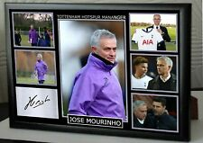 JOSE MOURINHO SPURS Framed A4 Canvas Tribute Print  Signed