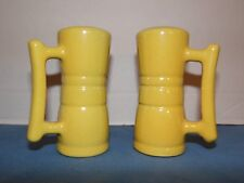 Frankoma Autumn Yellow Salt And Pepper Shakers With Handles # 26H