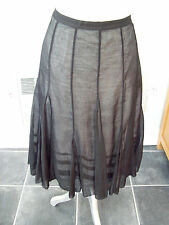 M&S AUTOGRAPH BLACK MIX 2-LAYER SKIRT SIZE  UK 12 SILK EFFECT GREAT CONDITION!