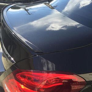Mercedes W205 4D Painted Gloss Black  C Class 2014-2021 Rear Boot Lip Spoiler